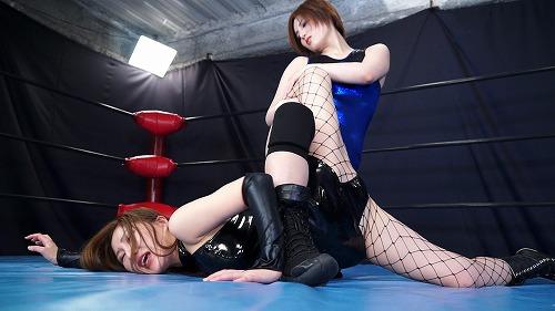 SM嬢が女子プロレスラーにやられる