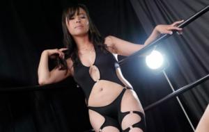 ペニバン制裁有りの地下格闘技女子プロレス!リングの上で試合という名のレズ調教!