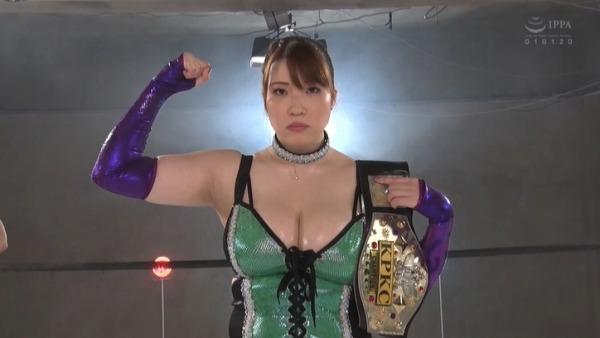 爆乳ダイナマイト夕季ちとせ(別名 姫華)女子プロレス参戦!負けたら即中出しレイプのミックスファイト!